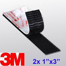 "3M 1"" x 3"" 2X Dual Lock SJ3550 Type 250 VHB Black Reclosable Fastener In/Outdoor"