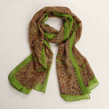 Fashion Women Lady Long Soft Chiffon Scarf Wrap Shawl Stole Scarves Green
