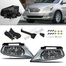 For 05-07 Honda Odyssey Clear Fog Lights Driving Bumper Lamp+Switch