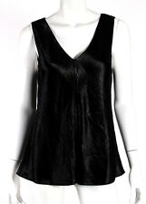 THE ROW $750 NWT Black Crushed Velvet MAYAN Sleeveless Top L