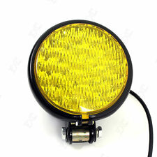 "Vintage 5"" 30 LED Headlight Metal For Motorcycle Harley High Low Chopper Cafe"