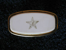 Vintage Lipstick Mirror Holder Goldtone w White  CL30-38