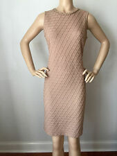 NEW ST JOHN KNIT SPORT SZ 10 WOMENS DRESS SANTANA KNIT SOHO BEIGE