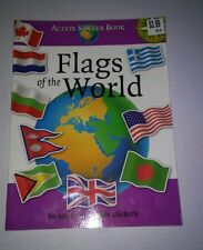 ACTION STICKER BOOK  FLAGS OF THE WORLD 60 SUPER RE-USABLE STICKERS BRANDNEW