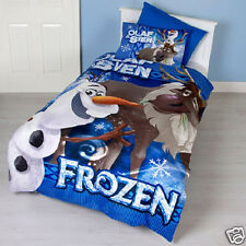 Disney Frozen Olaf and Sven Double / Full Bed Quilt Doona Duvet Cover Set NEW