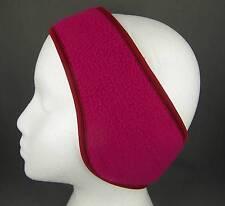 Pink reversible fleece ear muffs head wrap warmers ski adjustable