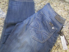 NEW BUFFALO DAVID BITTON SIX-X SLIM STRAIGHT STRETCH JEANS MENS 38X32 FREE SHIP
