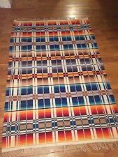"""Wool blanket- vintage Western Cowboy Camping Style. 67""""x 98"""""""