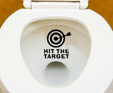"""Toilet Stickers """"Hit The Target"""" Funny Cartoon Hollow Waterproof Art Decal Decor"""