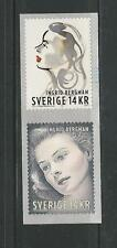 2015 Legend of Hollywood Ingrid Bergman 2 Coil Stamps Issued by Sweden