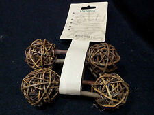 Rodent Willow Chew/Gnaw Set 2-Dumbells byHappy Pet/Rabbit/Hamster/Chinchilla/Rat