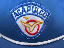 ACAPULCO DE JUAREZ vtg captain's hat broken snapback cap Mexico patch 'fix me'