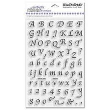 STAMPENDOUS RUBBER STAMPS CLEAR CALLIGRAPHY ALPHABET & NUMBERS STAMP SET
