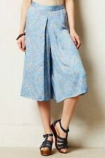 NEW Anthropologie Tobin Culottes Cropped Wide-Leg Pants By Elevenses Size 0P