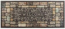 Pebbles Stone Door Mat Outdoor Welcome Guests Weather-Resistant 20 in. x 47 in.