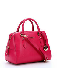 New $378 FURLA Elena Small Saffiano Leather Satchel Handbag Gloss Pink