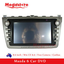 "8"" Mazda 6 2008-2012 Car DVD GPS PLAYER FREE REVERSE CAMERA HEAD UNIT Bluetooth"