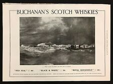 1915 Original Full Page Ad, Buchanan's Scotch Whiskies, White Walls of England