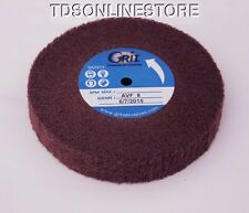 Satin Finish Buff Polishing Wheel 4 1/2 by 3/4 Inch Red VF