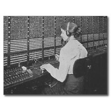 "*Postcard-""The Operator"" ...on Large Switchboard-"