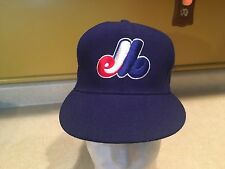 Vitntage Montreal Expos NEW ERA Fitted Hat cap 1990s Size 6 5/8 MLB Baseball