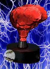 New Glass Red Phosphor Halloween Light Prop Brain Electra Plasma Lamp