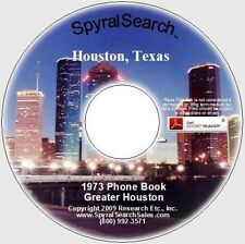 TX - Greater Houston 1973 Phone Book CD