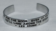 Quote By: ~ Les Brown ~ / Engraved, Hand Polished Bracelet,Gift Bag