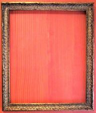 "FAB! STANDARD 20 X 24 PICTURE FRAME CARVED GOLD LEAF ALL WOOD 2"" WIDE N/R"
