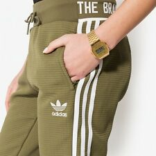 ADIDAS Womens Tracksuit Bottoms Track Pants Olive Green Khaki