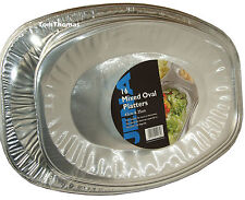 16 Quality Oval Foil Sandwich Platter Party Food Large / Medium Serving Trays