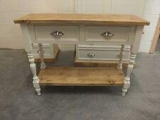 RUTLAND PAINTED CONSOLE TABLE HAND MADE ROUGH SAWN BESPOKE COLOUR SIZES