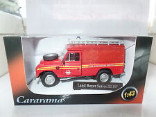 "Cararama CR039 1/43 O Scale Land Rover III 109""Fire & Rescue Ladders Beacon MIMB"