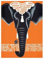 ADVERT CULTURAL ZOO ANIMAL ELEPHANT SOVIET UNION POSTER ART PRINT BB1760A