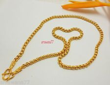 "Chain 22K 23K 24K THAI BAHT YELLOW GOLD GP NECKLACE 25"" Jewelry"