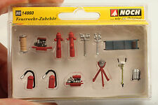 """Noch H0 14860 Feuerwehr Zubehör """"Fire Brigade Accessories""""  nw.-OVP mit Mängeln"""