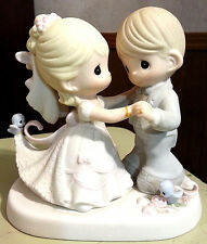 """Precious Moments, Wedding Gifts, """"You Are My Dream Come True"""" Bisque 5.5"""" tall"""