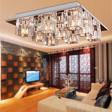 Modern New Crystal Ceiling Light Pendant Lamp Chandelier Lighting Flush Mount