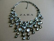 Zara Ethno mega statement Kette necklace boho top Blogger w. neu Bling