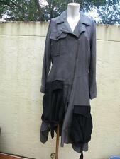 IVAN GRUNDAHL AMAZING GRAY & BLACK ASYMMETRICAL PARACHUTE DRESS NWT SZ 40