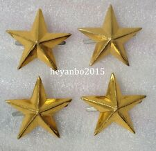 4PCS WWII WW2 JAPANESE MILITARY IMPERIAL ARMY CAP BADGE STAR PIN INSIGNIA