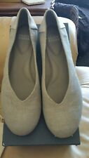 NIB Eileen Fisher Silver Linen Shoes Size 8.5