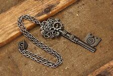 Elope LARGE antique key gear necklace Steampunk punk gothic macabre Gears Chain