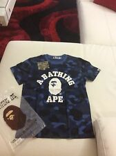 Men's  A Bathing Ape Shirt Blue Camo Size L