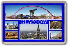 FRIDGE MAGNET - GLASGOW - Large - Scotland TOURIST