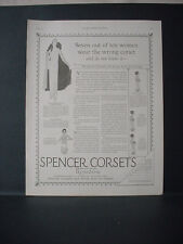 1924 Spencer Corsets Women's Underwear Full Page Fashion Vintage Print Ad 11733