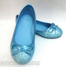New Style Blue Elsa Princess Cosplay Shoes Girls Kids Shoes UK7-13 123