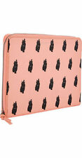 MARC bY MARC JACOBS CAT PRINT TABLET BOOK NEU PINK KATZEN IPAD CASE CORAL CANVAS