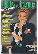 Modes et travaux  N°1011 Février 1985 page poupée couture tricot crochet