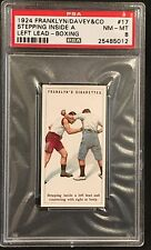 1924 FRANKLYN/DAVEY & CO BOXING STEPPING INSIDE A LEFT LEAD #17 PSA 8 NMT/MT